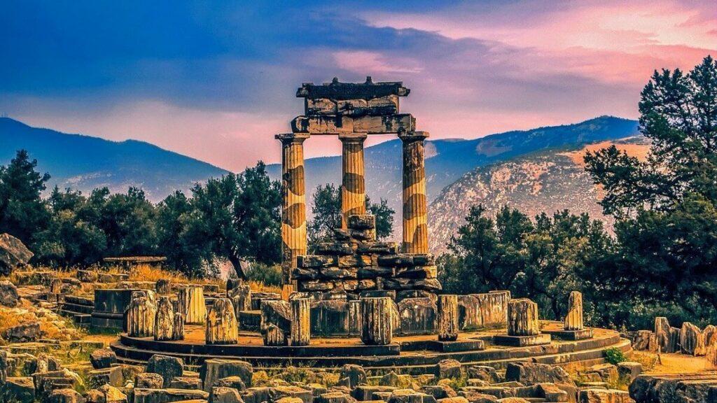 Het Orakel van Delphi in Griekenland
