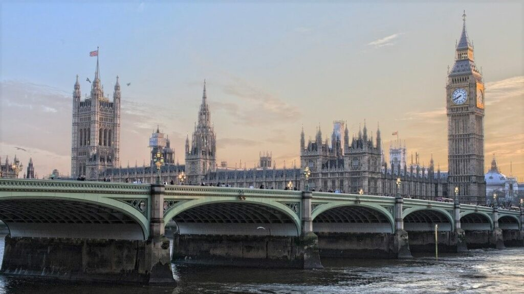 Palace of Westminster in Londen, Engeland