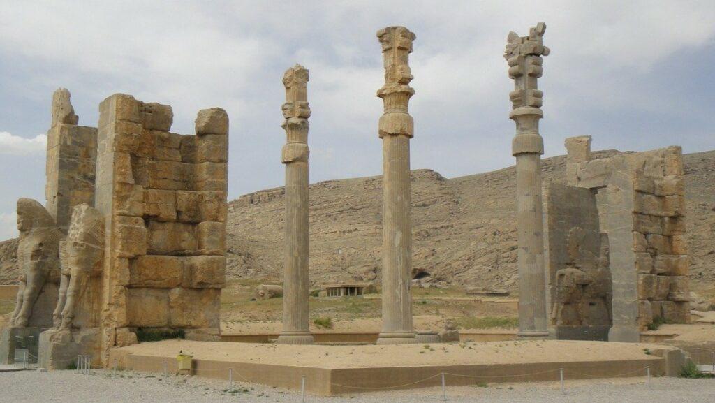 Het paleizencomplex Persepolis in Iran