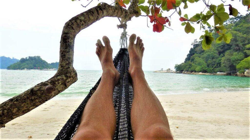 Hangmat op Coral Beach