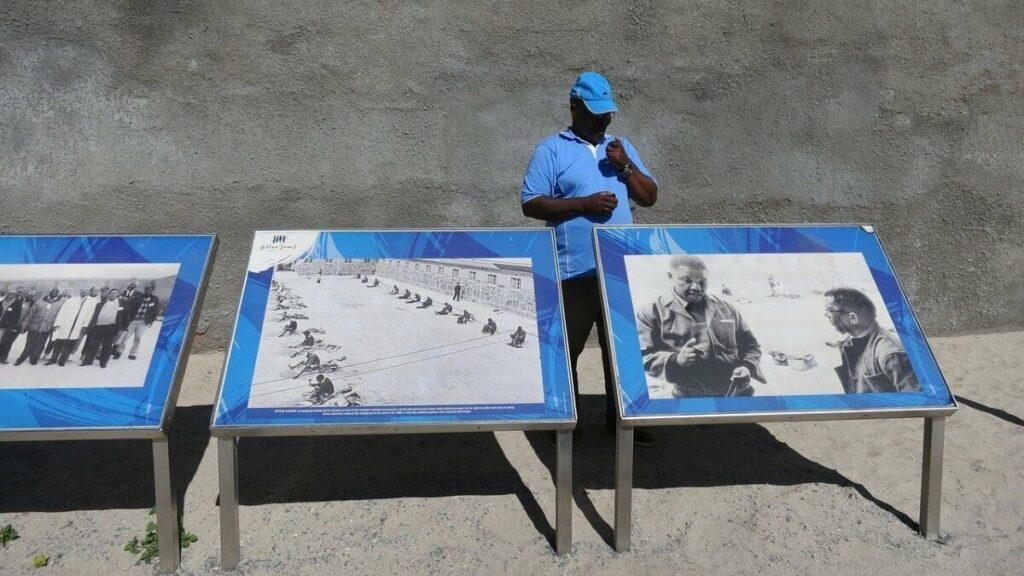 De gevangenis van Nelson Mandela op Robbeneiland, Zuid-Afrika