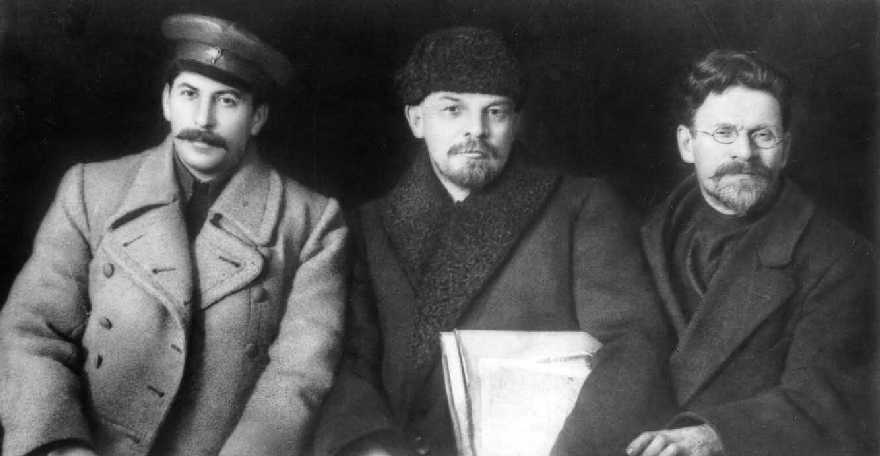 Stalin, Lenin en Kalinin in 1919.
