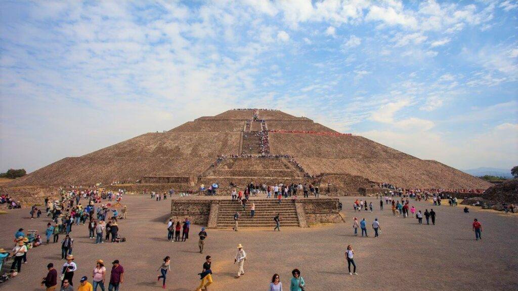 De oude stad Teotihuacan in Mexico