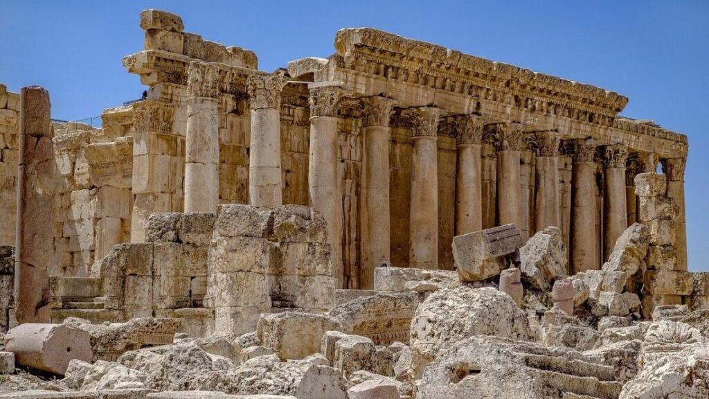 De geschiedenis van Baalbek, Libanon