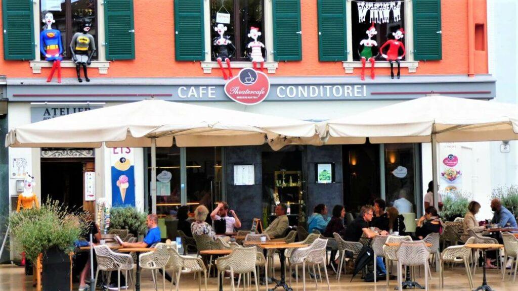 Het theatercafé in Bregenz, Oostenrijk