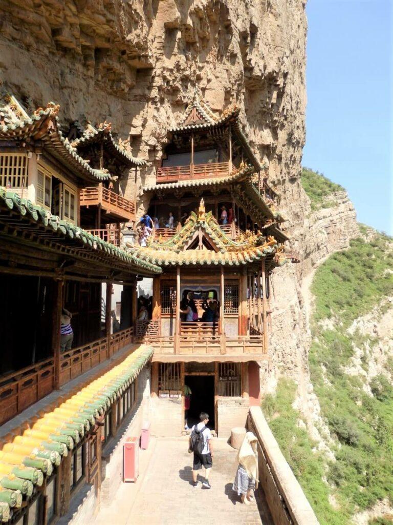 Bijzondere architectuur van het Hangende Klooster, China