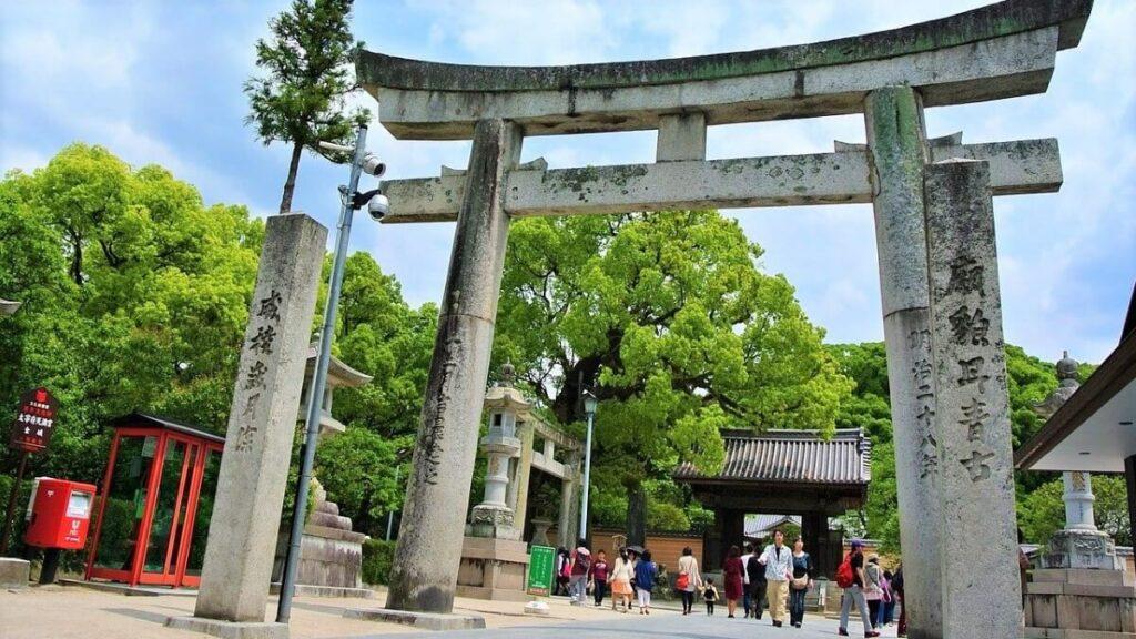 Het heiligdom Dazaifu, Japan