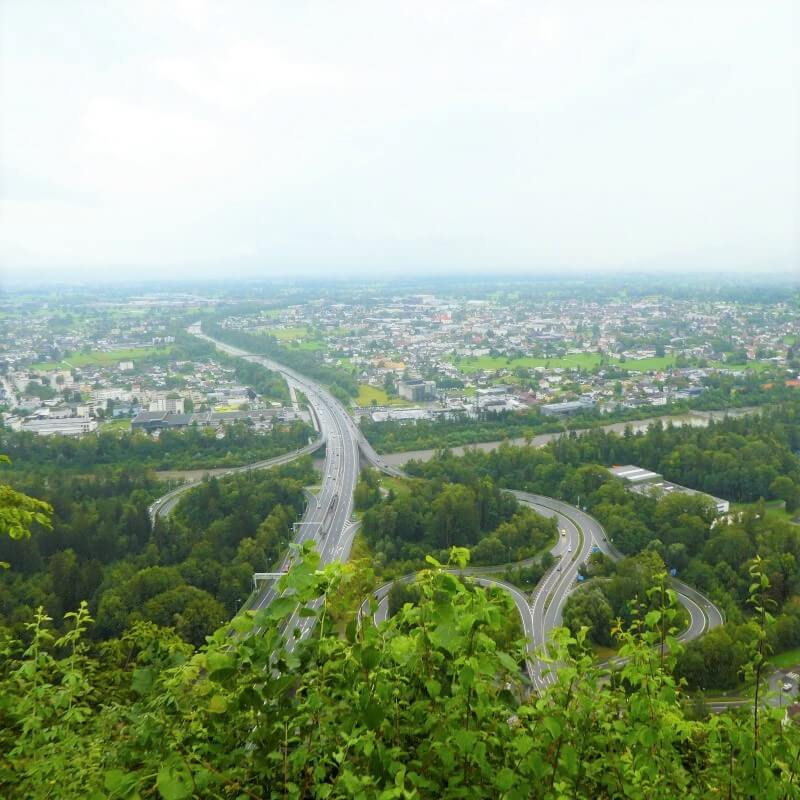 Uitzicht vanaf de Gebhardsberg in Bregenz, Oostenrijk