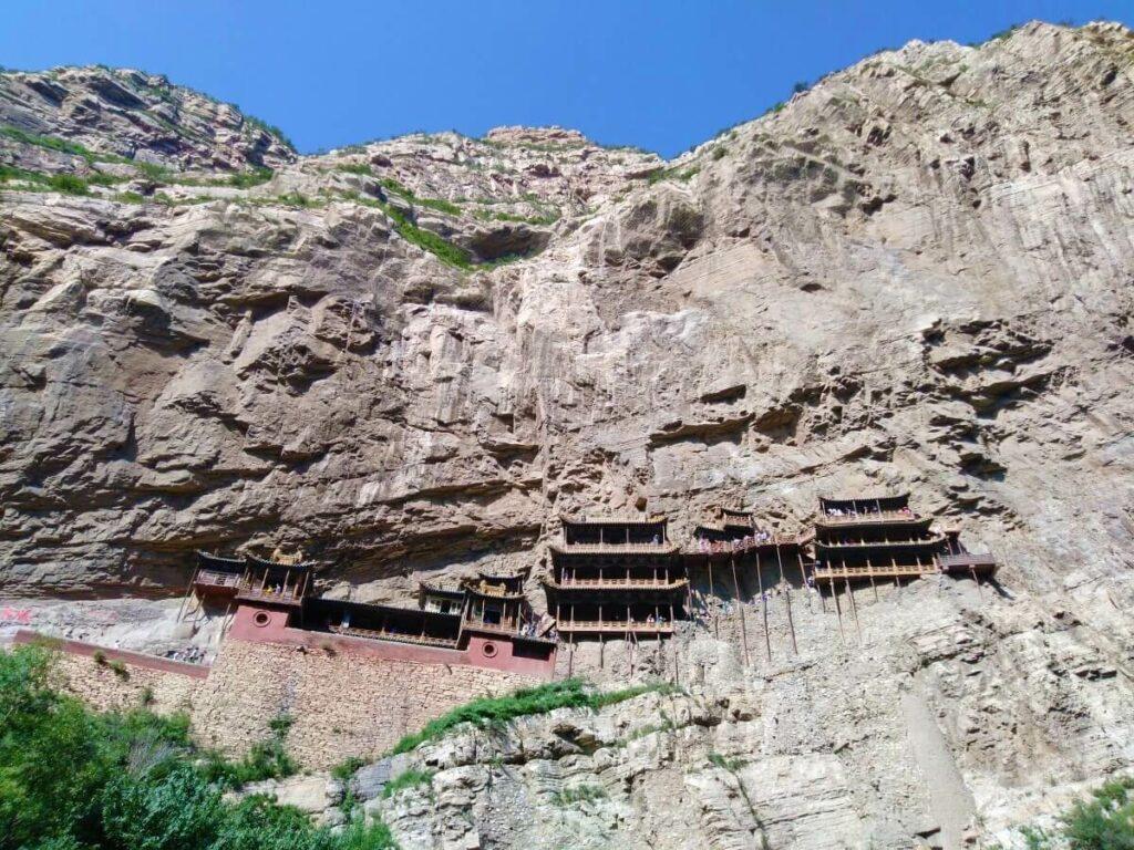 Hunyuan Hangende Klooster nabij Datong in China