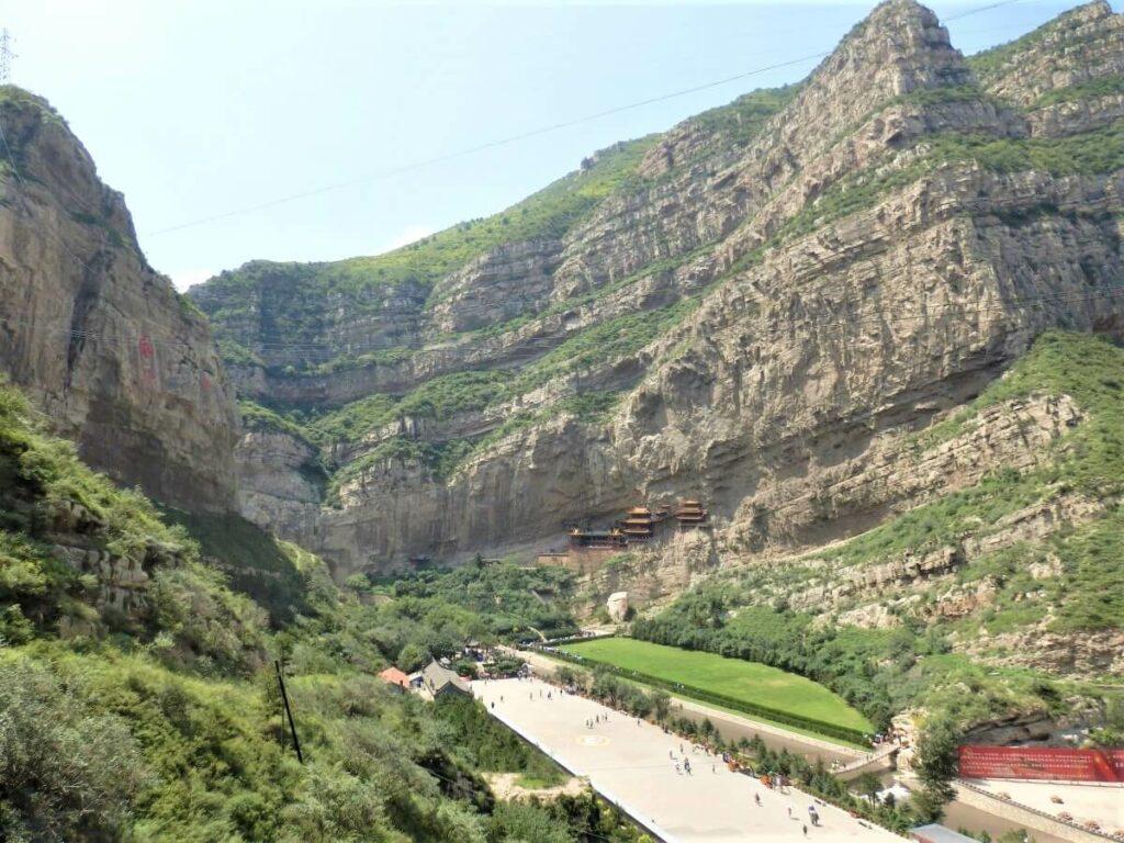 De toegang tot het Hangende Klooster, China