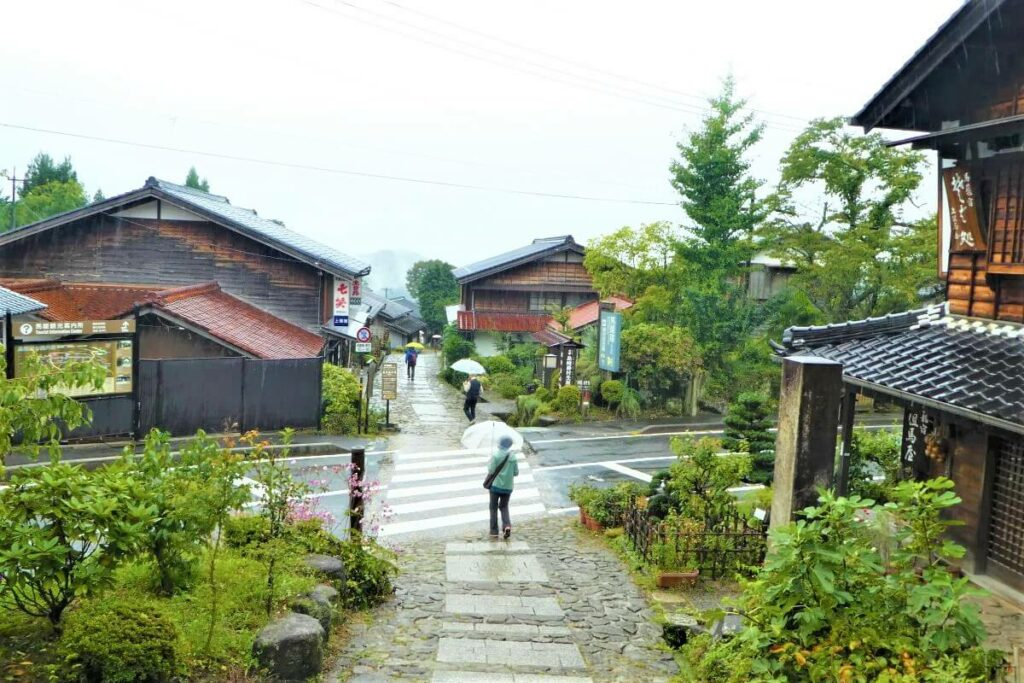 Het dorpje Magome in de Kiso Vallei, Japan