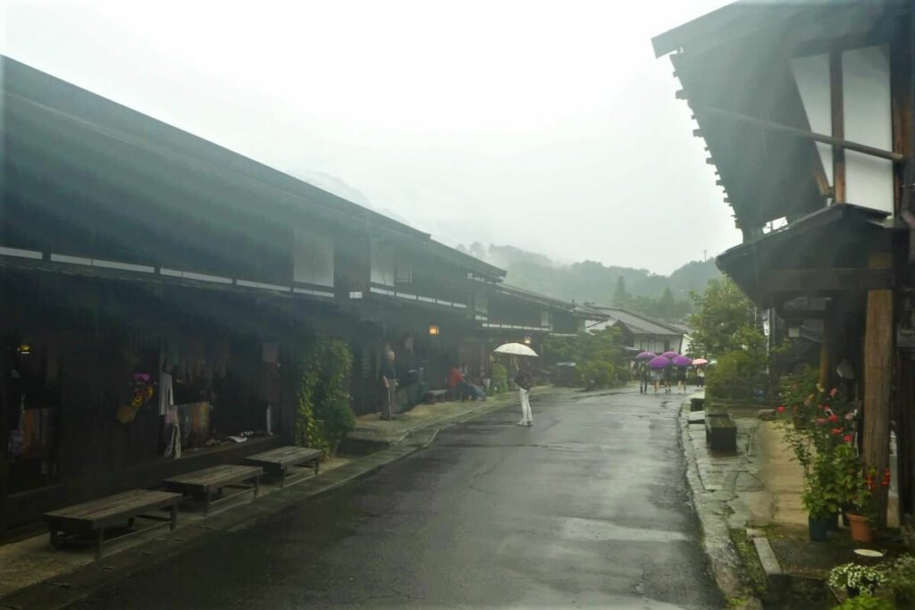 Het dorpje Tsumago in de prefectuur Gifu