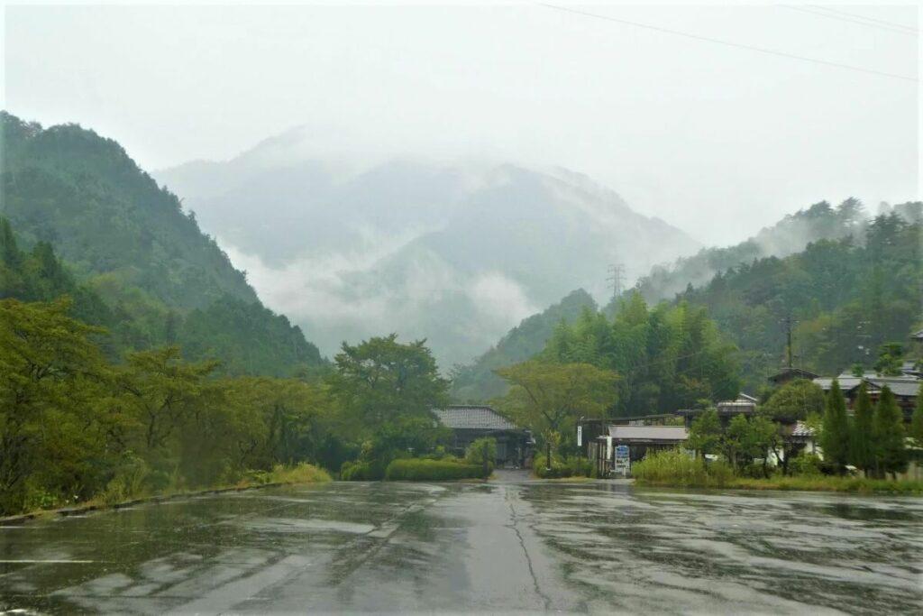 Het busstation van Tsumago in Japan