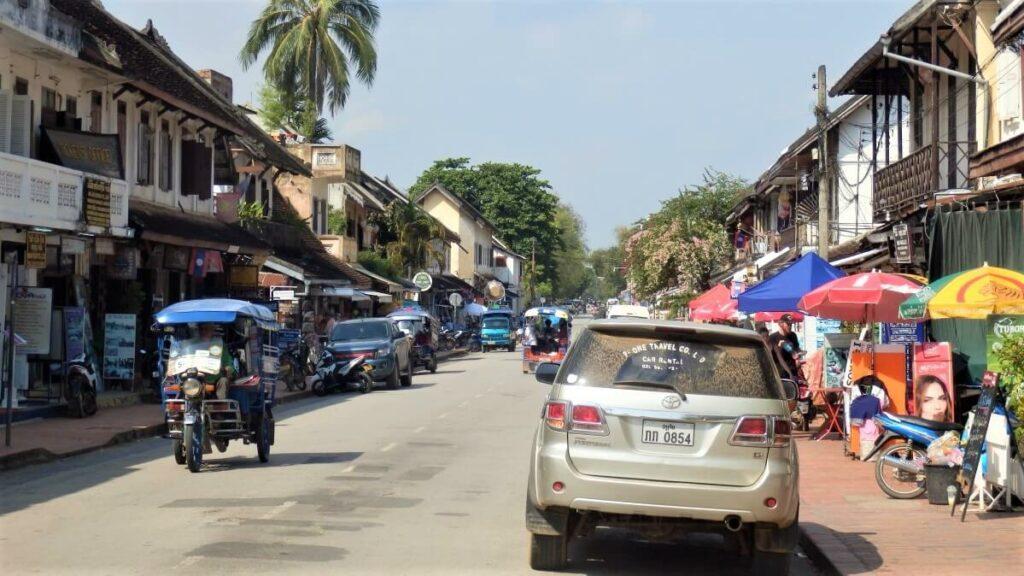 Het centrum van Luang Prabang, Laos