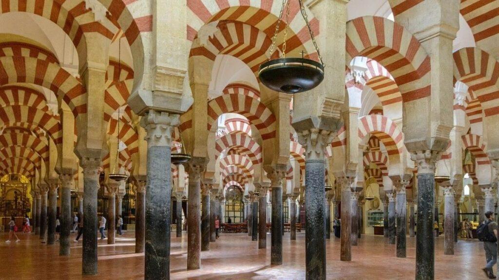 De geschiedenis van Mezquita in Cordoba, Spanje