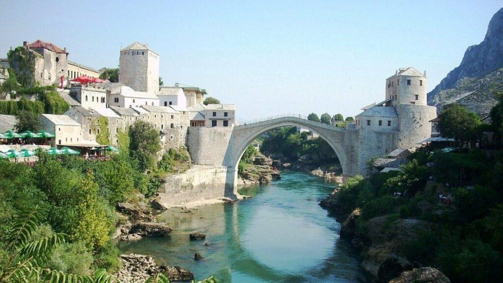 De Stari Most in Mostar, Bosnië-Herzegovina
