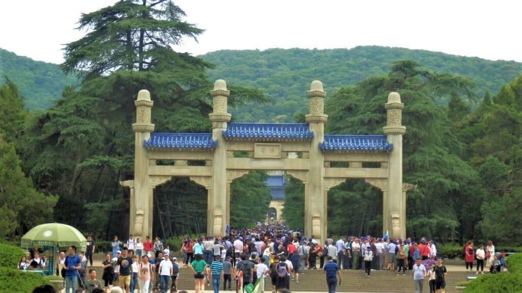De toegang tot het Mausoleum, Nanjing