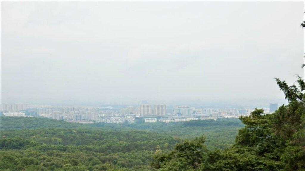 Uitzicht op de stad Nanjing, China