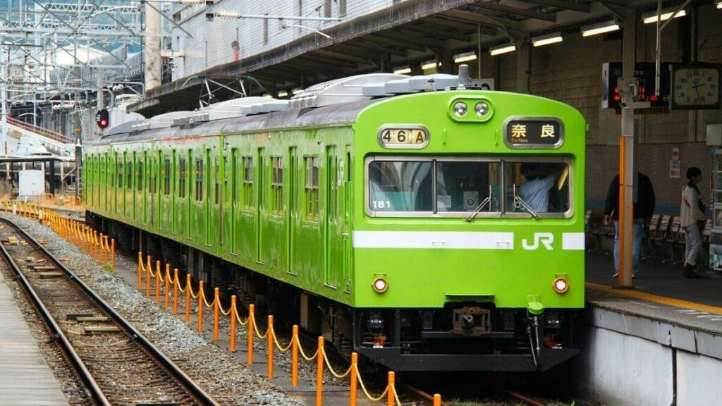 Het treinstation van Nara, Japan