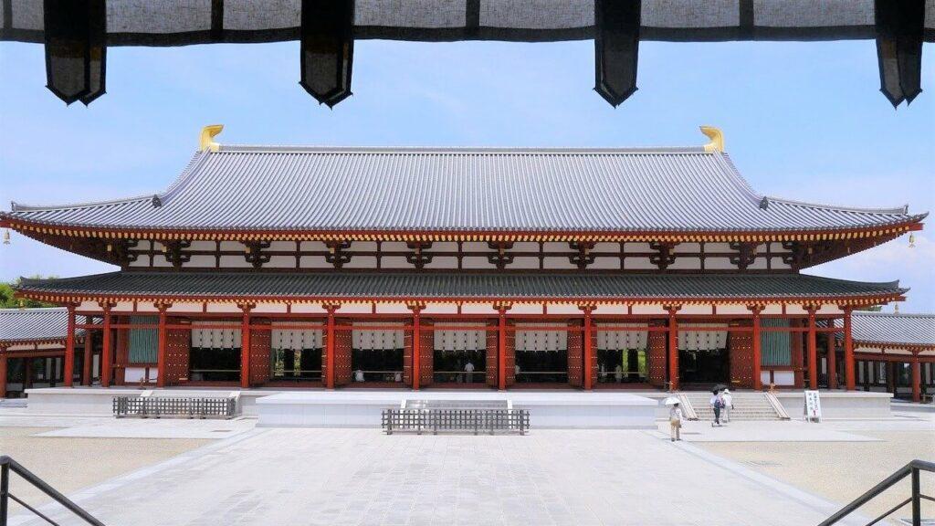 De Yakushi-ji Tempel in Japan