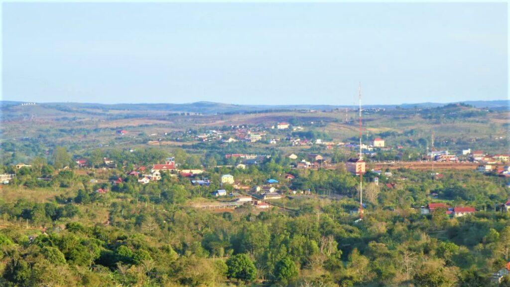 Uitzicht op Sen Monorom, Cambodja