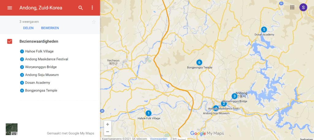 Bezienswaardigheden in Andong, Zuid-Korea