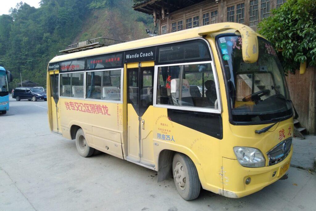 Met de bus naar de Longsheng Rijstvelden