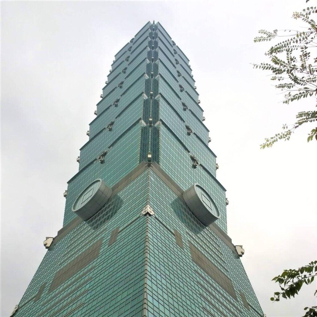 Close up van de Bamboe toren van Taiwan