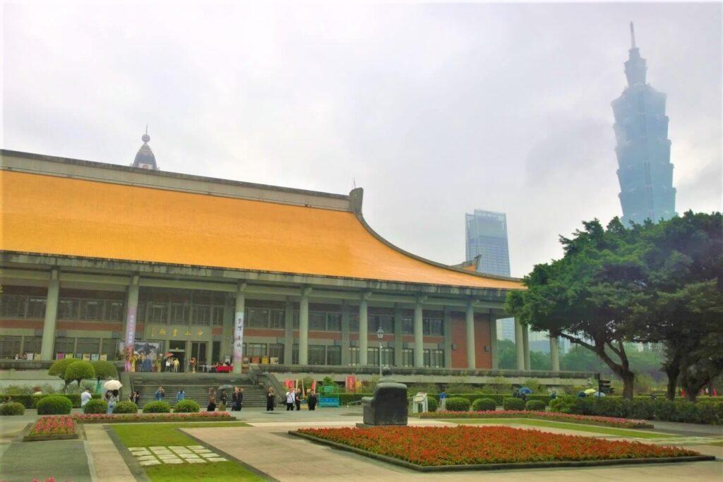 Het Sun Yat-Sen Memorial en de Taipei 101