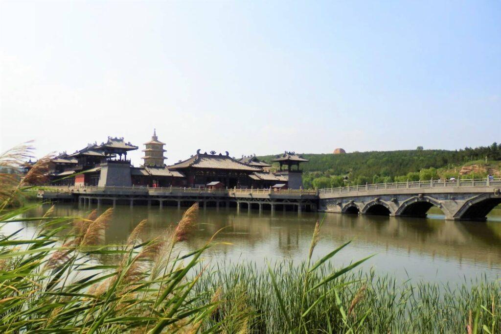 Een tempel in Yungang China