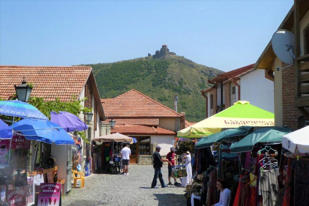 Het centrum van Mtscheta in Georgië