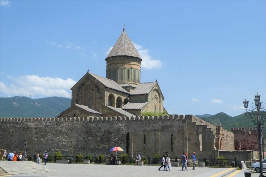 De Svetotskhoveli Kathedraal in Mtscheta, Georgië