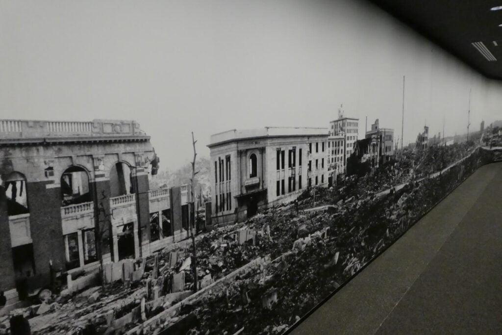 Hiroshima na de ontploffing van de atoombom
