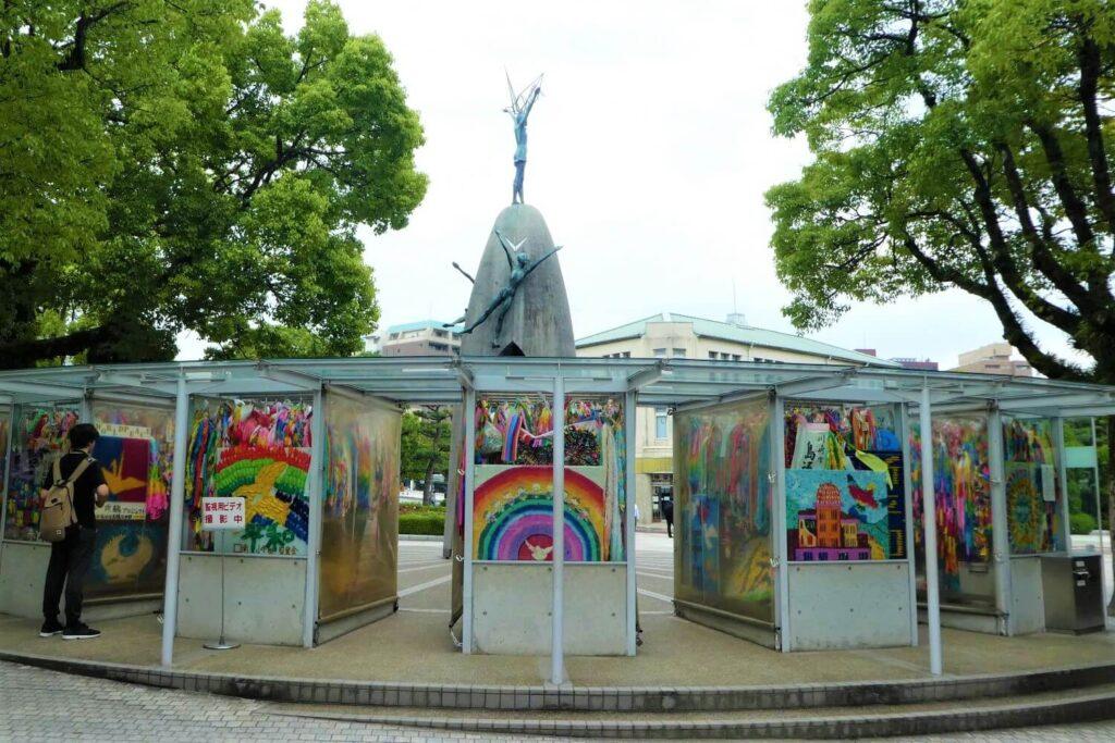 Kraanvogels in het Peace Memorial Park