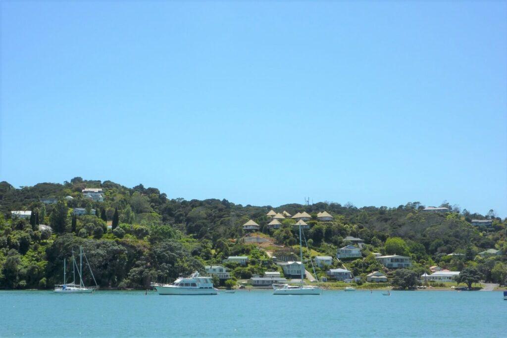 Het plaatsje Russell in de Bay of Islands