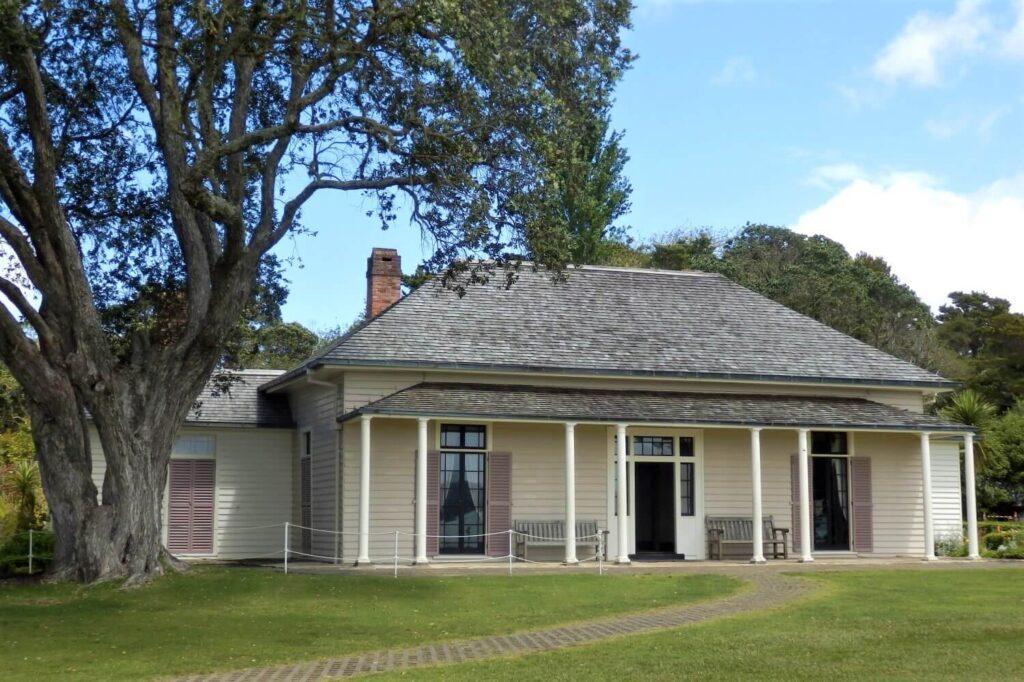 Het Treaty House, waar James Busby verbleef