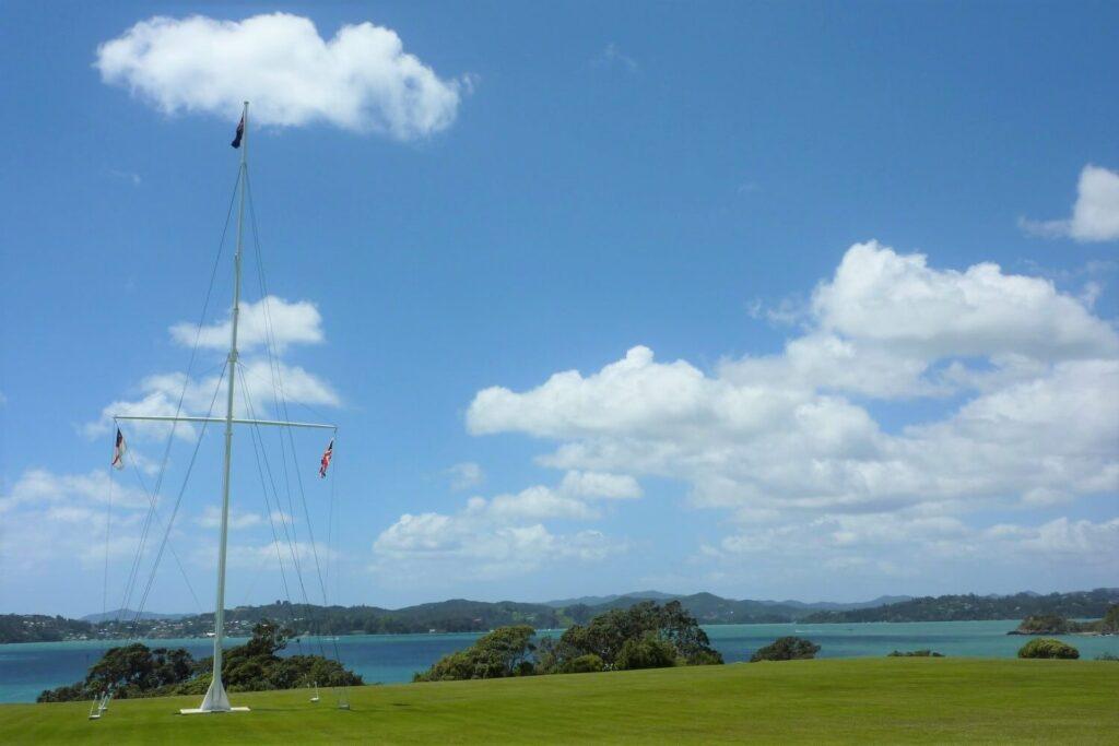 De vlaggen van de Maori, Nieuw-Zeeland en Groot-Brittannië