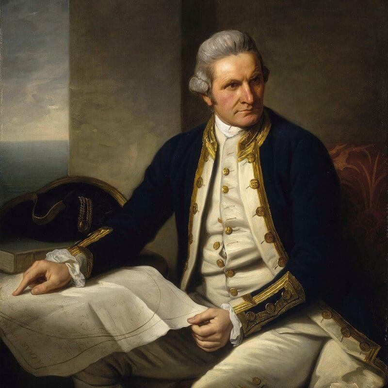 De Britse ontdekkingsreiziger James Cook