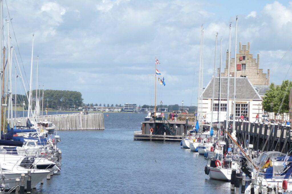 De haven van Veere in Zeeland