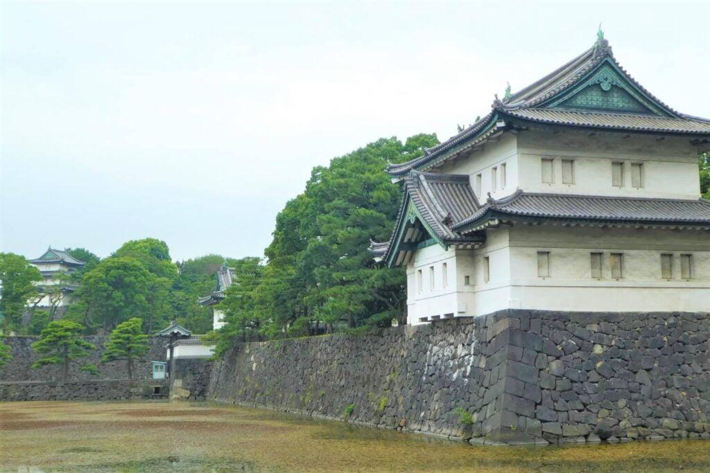 Een van de vele torens van het Keizerlijk Paleis in Tokio