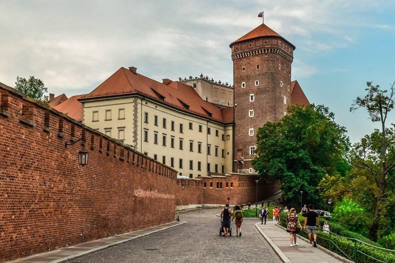 Het Wawel kasteel in het centrum van Krakau